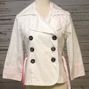 ☀️Charlotte Russe Jacket Belted Blazer Small White